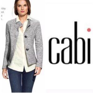 CAbi #596 Gray Hourglass Cardigan Blazer Jacket